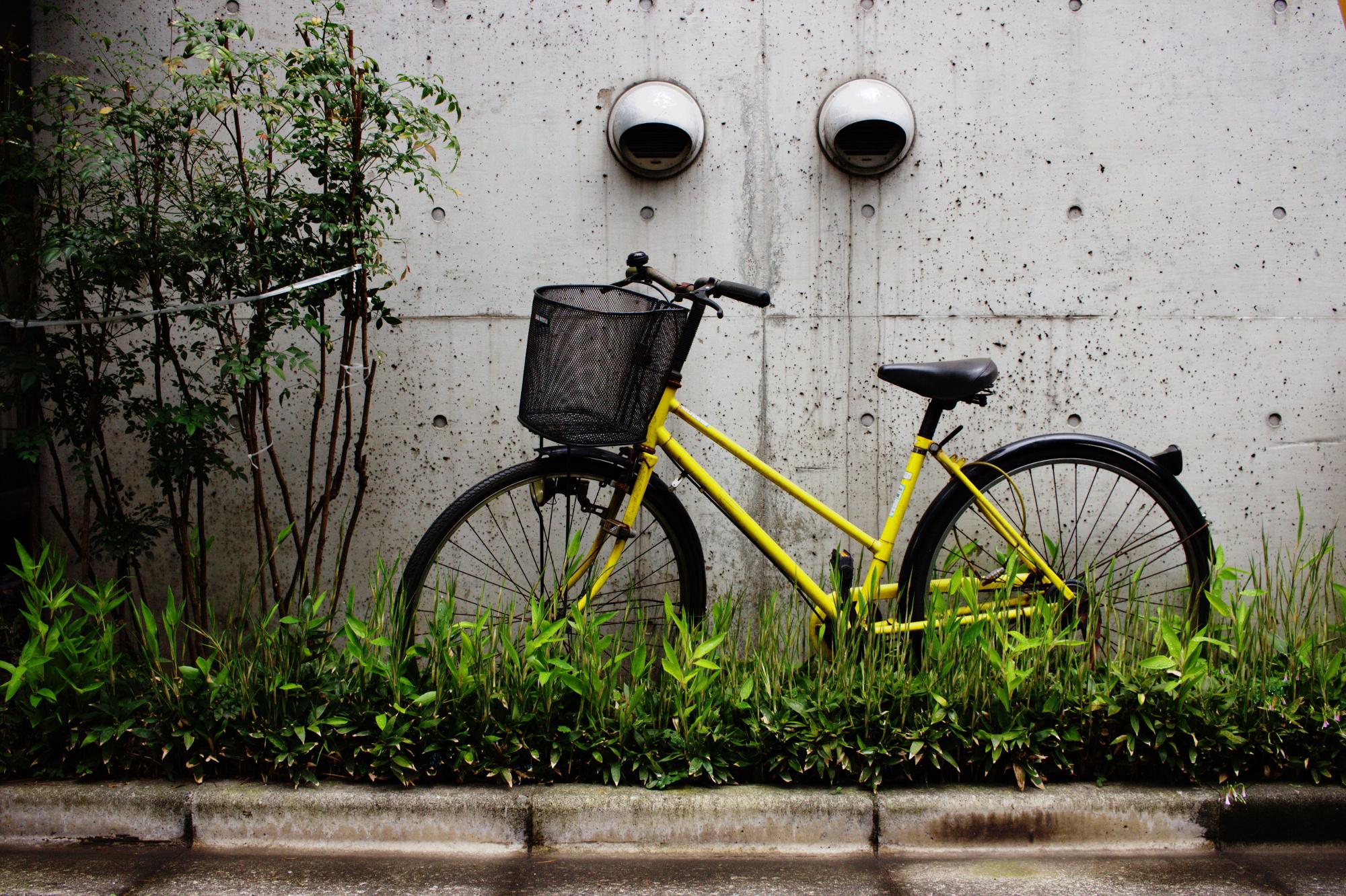 Bicycle in Ikebukuro, Tokyo, June 2016.