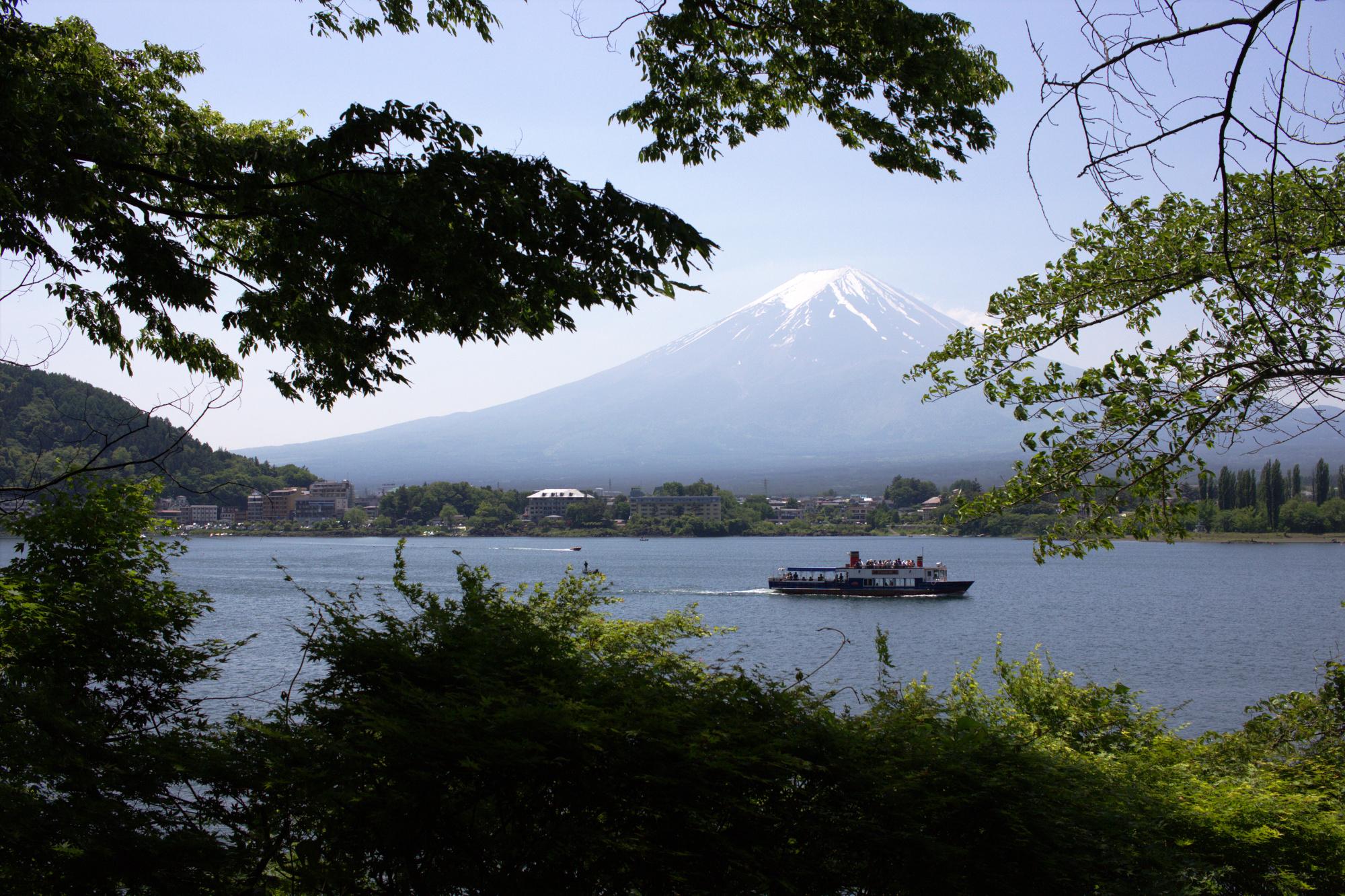 Mt. Fuji over Kawaguchiko Lake, May, 2016